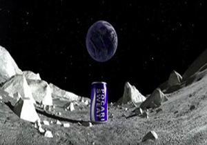 نخستین بیلبورد تبلیغاتی بر روی ماه