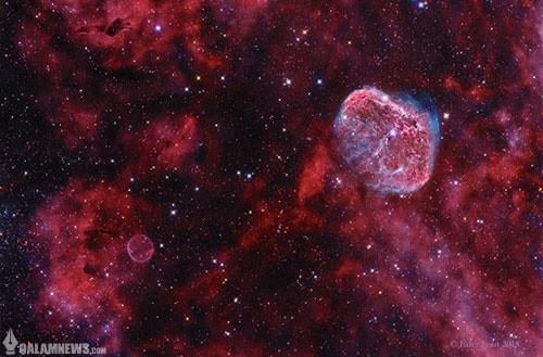 تصویر ناسا؛ حباب و هلال در صورت فلکی قو