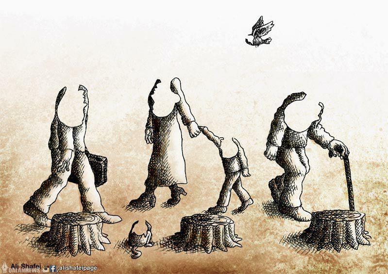 قطع درختان = نابودی زندگی