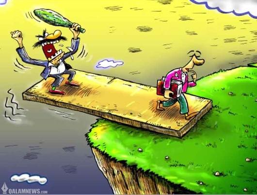 کاریکاتور/ عاقبت حمله به هنرمندان!
