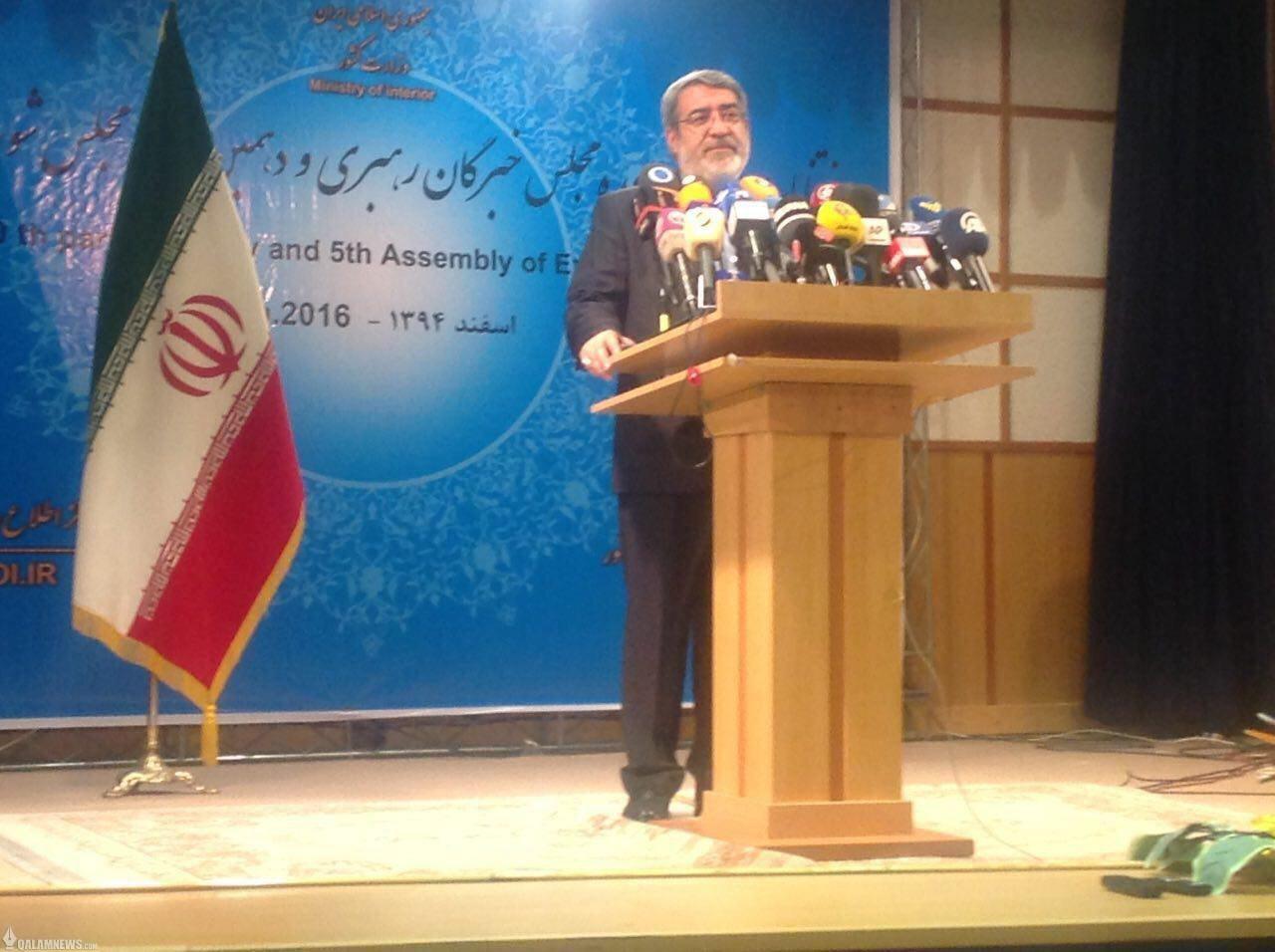 وزیر کشور:  همان ۳۰ نفر اعلام شده از تهران به مجلس راه یافتند