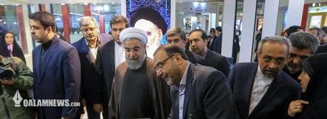 حضور رئیسجمهور در افتتاحیه نمایشگاه مطبوعات و خبرگزاریها