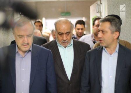 تشکر ویژه وزیر بهداشت از استاندار کرمانشاه در حضور رییس جمهور/فیلم