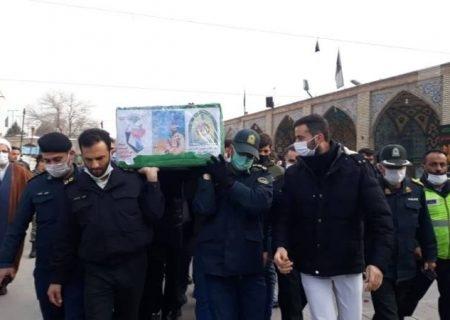 پیکر مطهر مدافع وطن در قزوین تشییع شد