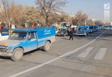 رژه وانت داران استان قزوین در سالگرد شهید سلیمانی برگزار شد