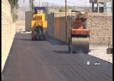 اجرای عملیات آسفالت در میانشهر فسا