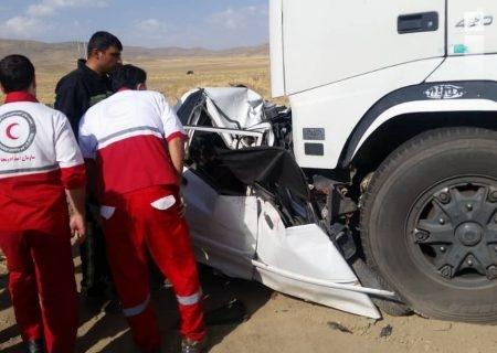 سبقت غیرمجاز موجب مرگ ۲ سرنشین خودرو در گردنه حیران همدان شد