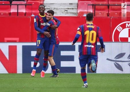 پیروزی آسان بارسلونا برابر سویا