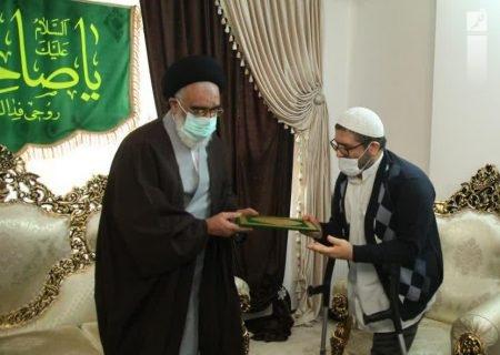 آیتالله سعیدی از سه جانباز دفاع مقدس تجلیل کرد +تصاویر