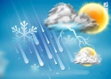 پیش بینی بارش رگباری در قسمتهای شمالی خراسان رضوی