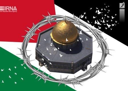 مردم قزوین در حمایت از فلسطین و افغانستان تجمع کردند