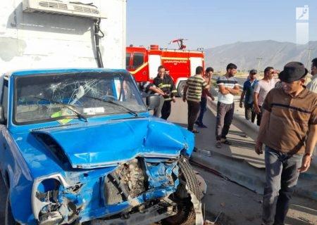 یک کشته در واژگونی وانت در جاده کازرون – بوشهر