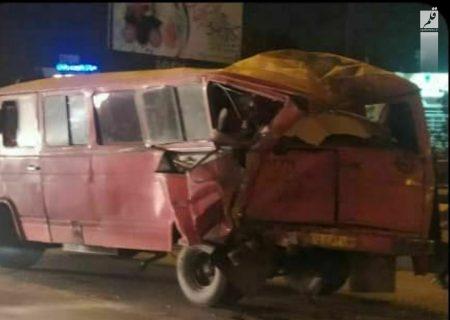 ۷ مصدوم در حادثه رانندگی پلیسراه امام هادی(ع) مشهد