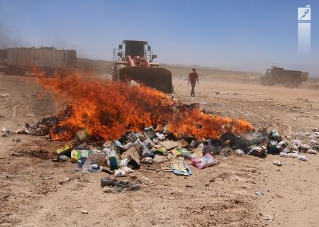 انهدام کالاهای قاچاق در همدان