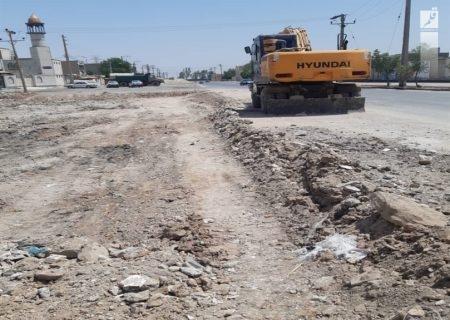آغاز عملیات تعریض و زیرسازی خیابان غزنوی شمالی