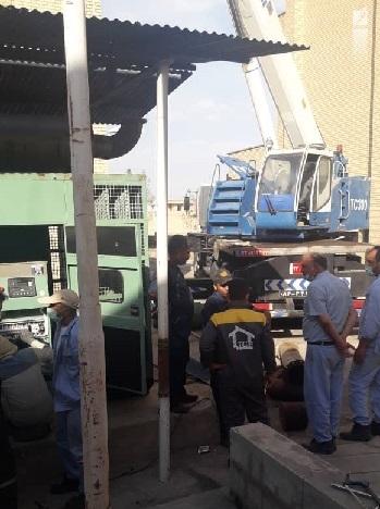 تعویض دیزل ژنراتور مرکز انتقال نفت مهرآران