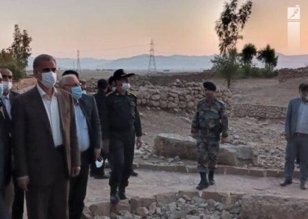 استاندار خوزستان از روند اجرایی پروژه های ایذه و باغملک بازدید کرد