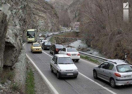 ترافیک بازگشت مسافران در جادههای مازندران پرحجم است