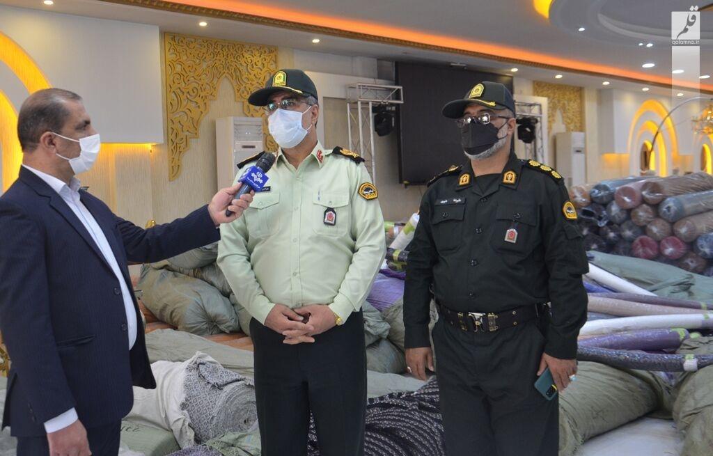 ۹۰ میلیارد ریال پارچه سرقتی در کرمانشاه کشف شد
